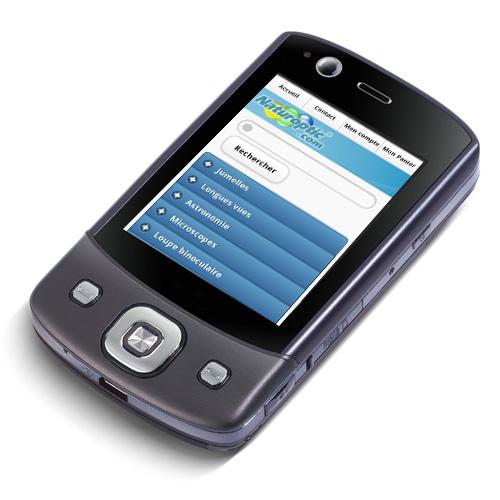Naturoptic sur Smartphone