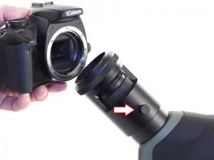 Montage longue vue sur boitier reflex