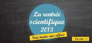 La boutique rentrée des sciences est ouverte