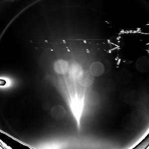 Rosetta vu par Philae lors de son largage.