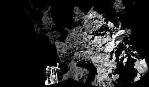 La première image prise par Philae depuis la surface de la comète - Crédit ESA/CNES