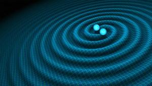 Les ondes gravitationnelles crées par la collision de deux trous noirs